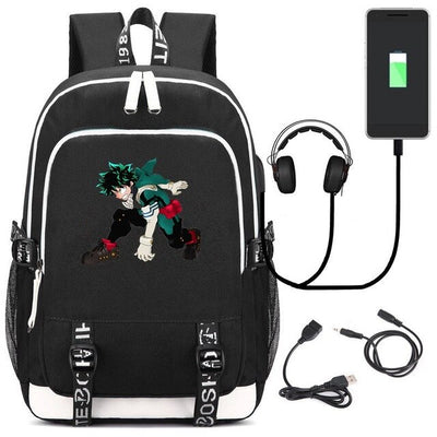 My Hero Academia Asui Tsuyu USB Charge Interface Laptop Backpack