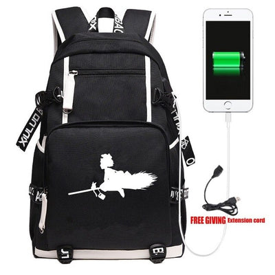 Japanese Anime Kiki's Delivery Service Laptop USB Backpack