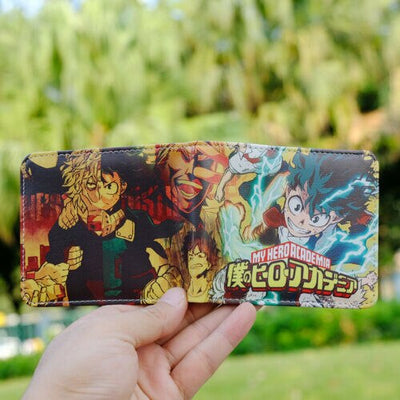My Hero Academia wallet with ID card holder short PU Bi-Fold coin Purse