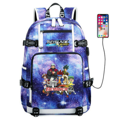 Beyblade burst evolution team Schoolbag USB Charging Backpack