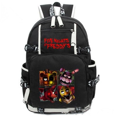 Game Five Nights At Freddy's Freddy Chica Foxy Bonnie Backpack