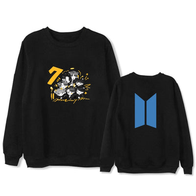 Kpop Bangtan Boys 2020 return Crew neck Hoodies