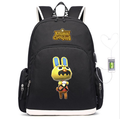 Animal Crossing Canvas USB Charging Backpack