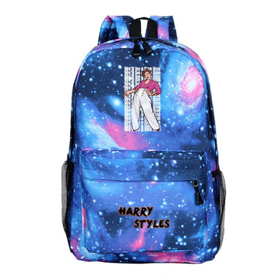 Harry Styles printed men's travel bag hiking backpack