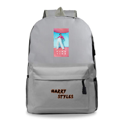 Harry Styles printed school bag