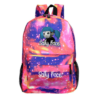 Sally face Teenager School unicorno Backpack
