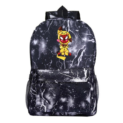 Pokemon hot selling casual solid color material Oxford men's backpack