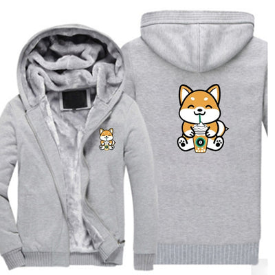 Pembroke Welsh Corgi Fashion Print Design Zipper Hoodies