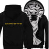 Car Brand Chevrolet Letter Yellow Print Logo Winter Zipper Hoodies