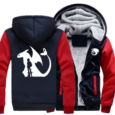 How to Train Your Dragon Printed Zipper Jacket