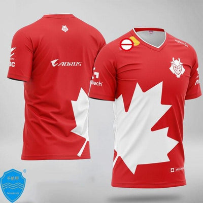 E-Sports Team G2 Uniform 2020 Canada Jersey Fans Game T-shirt