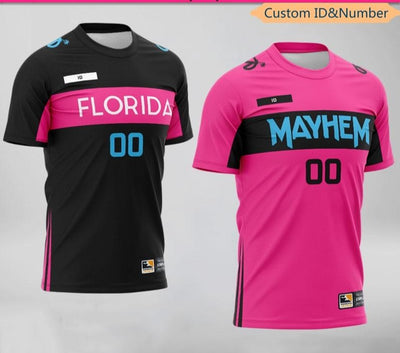 OWL Team Florida Mayhem Uniform Jerseys Fans Game Tshirt