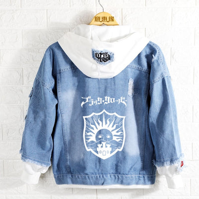 Black Clover Anime Asta Denim Jacket