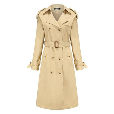 England Style Waist Hugging Cotton Fashion Classic Trench Coat