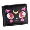 Lovely Sailor Moon Luna Anime PU Leather Short Wallet