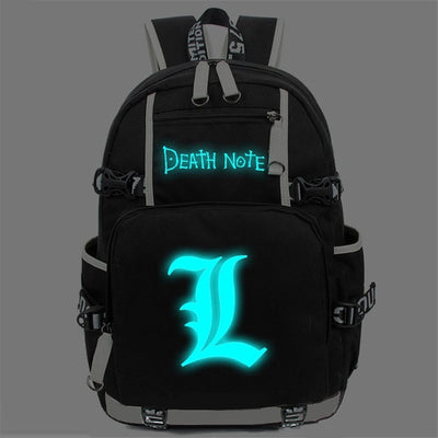 Japan Anime Death Note Large Oxford Luminous Printing Backpack