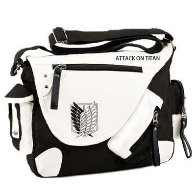 Japan Anime Attack on Titan Shingeki no Kyojin Aren Survey Corps Wings of Liberty Canvas Satchel