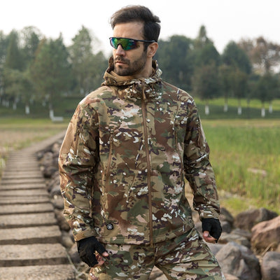 Army Camouflage Waterproof Men Jacket