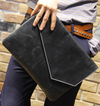 Pu Leather Men's Clutches Vintage Handbags Casual Wallet