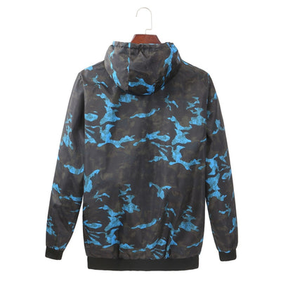Casual Camouflage Hoodie Jacket
