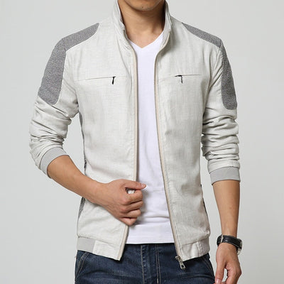 Linen Men's Clothing Soft  Outwears Jackets