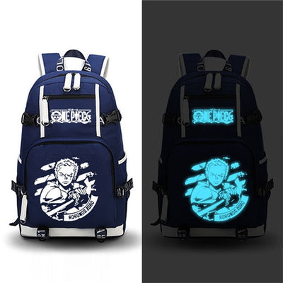 Anime One Piece Backpack Cosplay Roronoa Zoro Chopper Luffy Laptop Bags