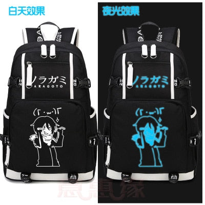Anime Noragami cosplay Anime YATO Luminous Canvas Backpack