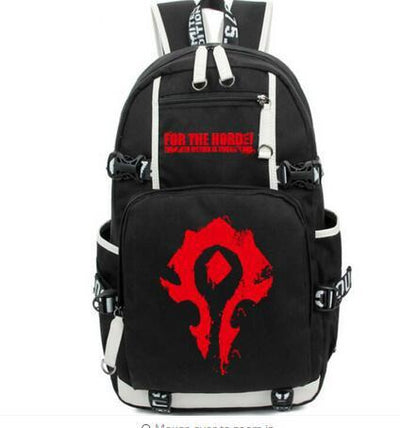 World Warcraft Horde symbol bag styles between male and female students Backpack