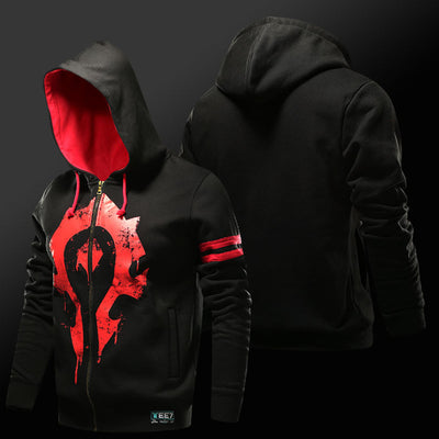 Quality WOW Horde Hoodie Alliance Logo Hooded Sweatshirt