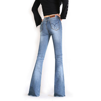 Long Jeans Pants For Women Flare Trousers Plus Size
