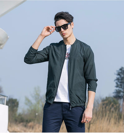 Summer sun protection clothing men jacket