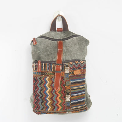 Ethnic Canvas Backpack for Women