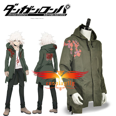 Super Danganronpa 2 Nagito Komaeda Nagito Army Green Color Jacket