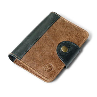 Genuine Leather Porte Carte Credit Business Card Minimalist Wallet