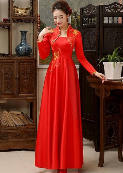 Vintage Traditional Chinese long style qipao Dresses