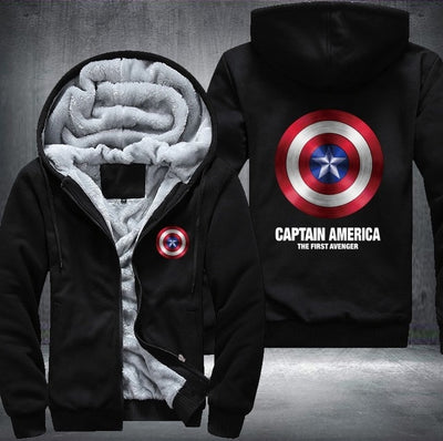 Captain America Agents of SHIELD Hooded Fashion Thick Zipper