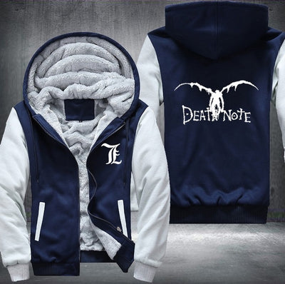 Death Note hoodie Anime Hooded Thick Zipper Men cardigan Sweatshirts