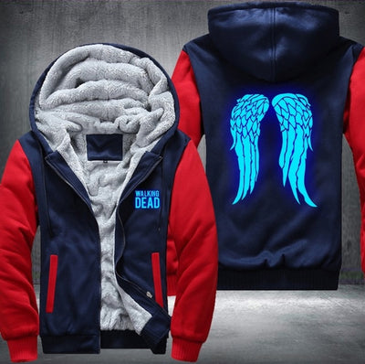 The Walking Dead Zombie Daryl Dixon Wings Luminous blue Hoodie