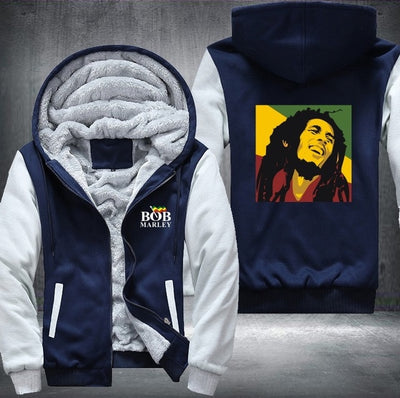 Bob Marley Winter Jacket HoodiesThicken Fleece Zipper