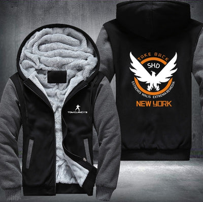Tom Clancy's The Division Printing Pattern Thicken Fleece Hoodies