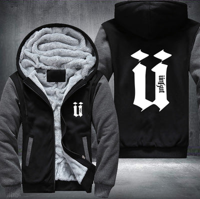 Unkut Hoodies Men Hip Hop Mens Ringer Thicken Fleece