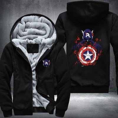The Avengers Iron Man Hulk Captain America Printing Pattern Thicken Fleece