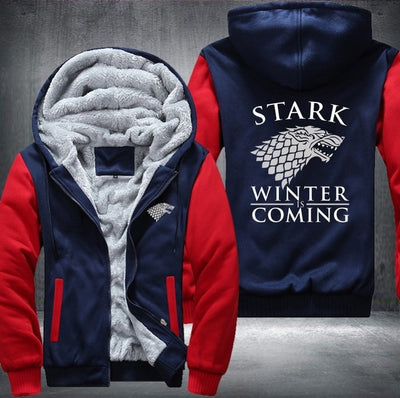 Game of Thrones Men's Women's Printing Pattern Thicken Fleece Zipper Hoodies