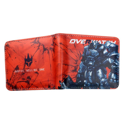 Overwatch Theme Fast Dispatch Gamer With Zip Coin Pocket Wallet
