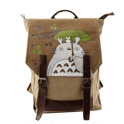 Anime My Neighbor Totoro Canvas Backpack