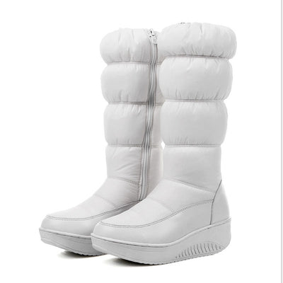 Winter Warm Women think Over-the-knee Zip Snow Boots