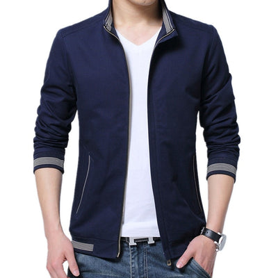 men spring autumn casual jacket veste homme