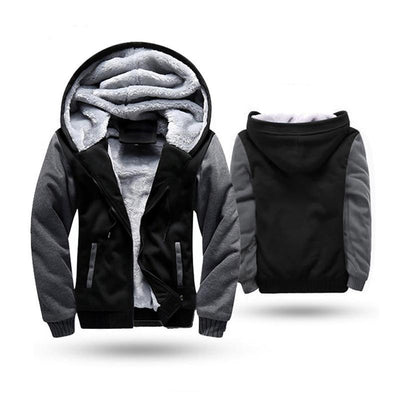 European Fashion Bomber Mens Vintage Thickening Fleece Jacket