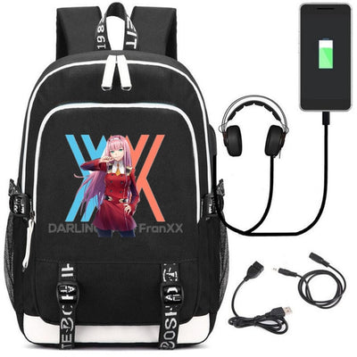 DITF DARLING in the FRANXX USB charging 17 inch laptop Backpack