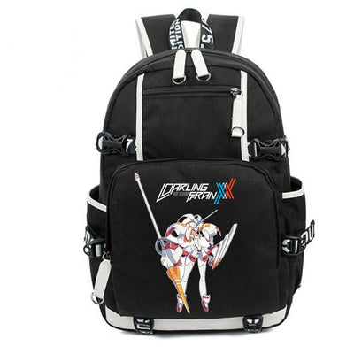 Anime DARLING in the FRANXX Strelizia Hiro Zero Two Backpack